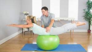 pilates stretch with ball: pilates instructor harpenden