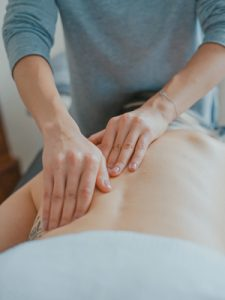 someone having a back massage