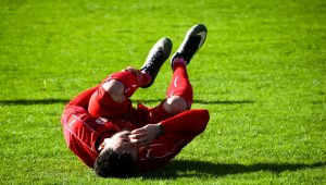 Sports injury footballer